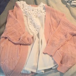 NWOT adorable pink sweater